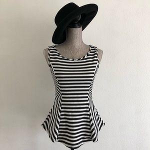 Tops - Peplum black and white stripes.